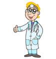cute doctor vector image