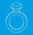 diamond ring icon outline style vector image vector image