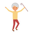 elderly woman grandmother character happy vector image vector image