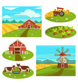 farm household or farmer agriculture flat vector image