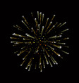 fireworks gold beautiful golden fireworks on vector image vector image