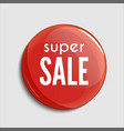 glossy sale button or badge product promotions vector image