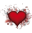 Heart with flowers grunge vector image