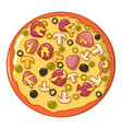 italian pizza icon cartoon style vector image