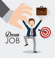 Job digital design vector image vector image