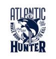killer whale tshirt print mascot for marine club vector image