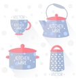 kitchenware flat vector image vector image