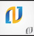 letter n monogram symbol design minimalist vector image vector image
