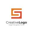 letter s and g orange vintage square logo flat vector image vector image