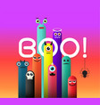 monster cute and boo vector image