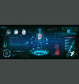 mrt futuristic scanning in hud style design vector image vector image