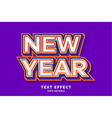 new year - text effect editable text vector image vector image