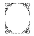 ornate floral frame with refined vignette vector image vector image