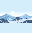 panorama of mountain peaks vector image