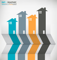 Real Estate Concept Infographic vector image vector image