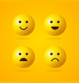 realistic detailed 3d emoji sign set vector image