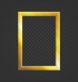 realistic golden frame vector image