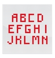 Red Alphabet Part One vector image vector image