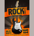 rock festival concert party flyer or poster design vector image vector image