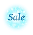 Sale banner on abstract explosion background vector image vector image