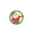 Santa Claus Father Christmas Thumbs Up Circle vector image vector image