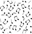 seamless pattern drawn music notes vector image