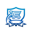 secure and fast shopping cart icon vector image