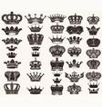 Set high detailed crowns for design