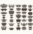 set of high detailed crowns for design vector image vector image