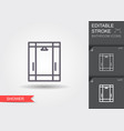 shower cabin line icon with editable stroke vector image vector image