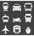 Simple monochromatic transport icons set vector image vector image