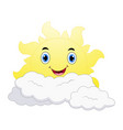 smiling sun cartoon emoji vector image