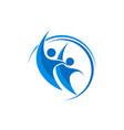 social media - logo concept human character logo vector image vector image