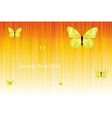 Solar Background With Butterflies vector image