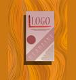 square annual report brochure flyer design vector image vector image