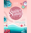 Summer beach party poster top view
