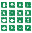 vegetables icons set grunge vector image vector image