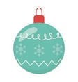 white background with green ball merry christmas vector image vector image