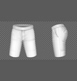 white shorts for men mockup male pants vector image