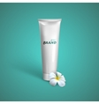 White tube mock-up for cream tooth paste or gel