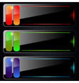 Glass banners collection vector image