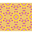 Seamless Purple Yellow Islamic OutLine Star vector image