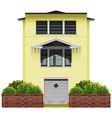 A big yellow house vector image vector image