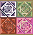 abstract geometric color pattern vector image vector image