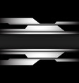 abstract silver black cyber geometric shadow grey vector image vector image