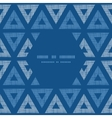 Abstract textile blue triangles ikat frame vector image vector image