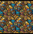 african craft voodoo tribal mask and inca south vector image vector image