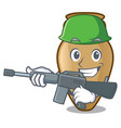army amphora character cartoon style vector image