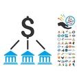 Bank Organization Icon With 2017 Year Bonus vector image vector image