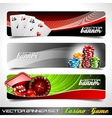 banner set on a casino theme vector image